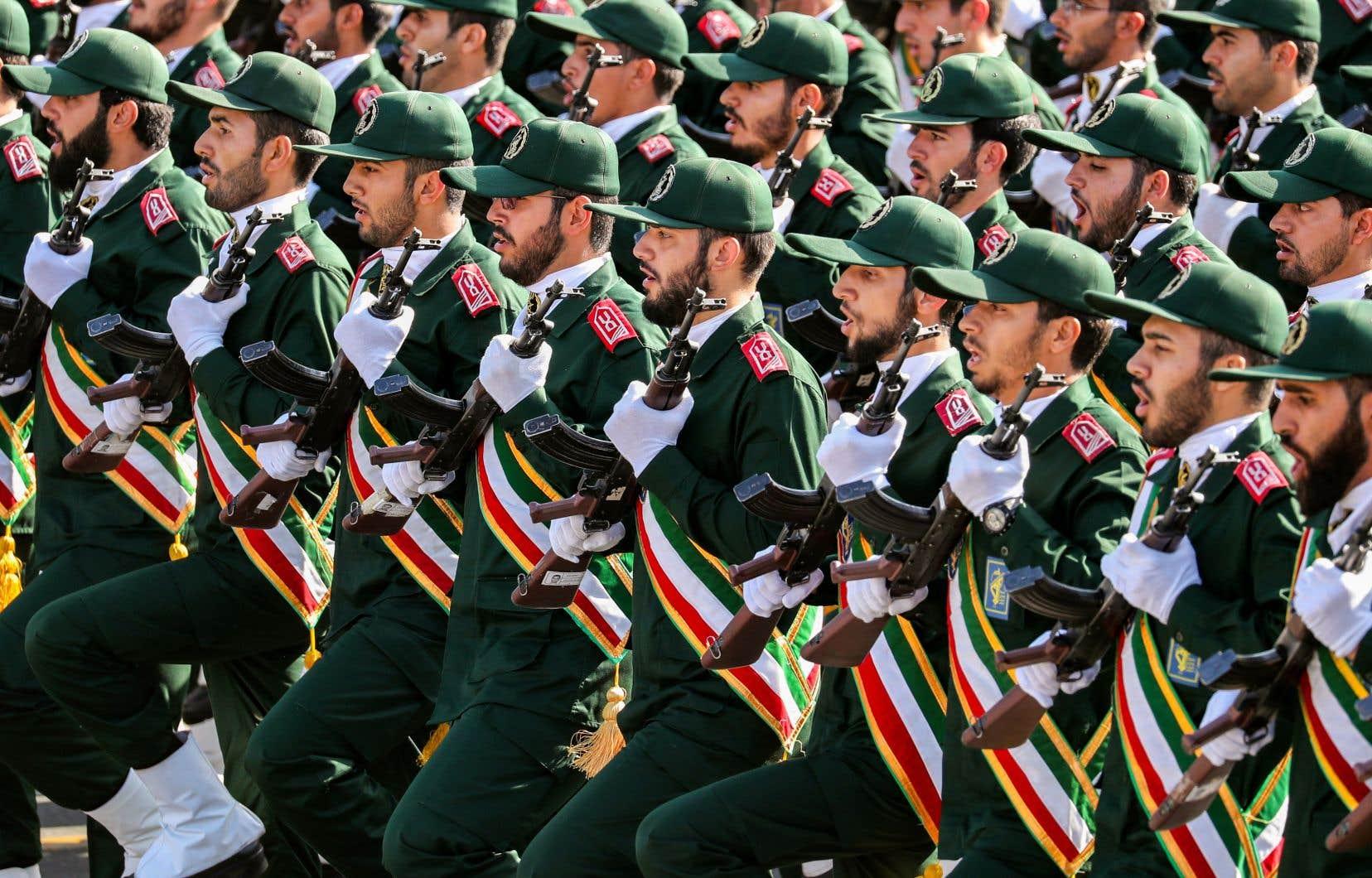 Une parade de l'armée idéologique iranienne en 2018