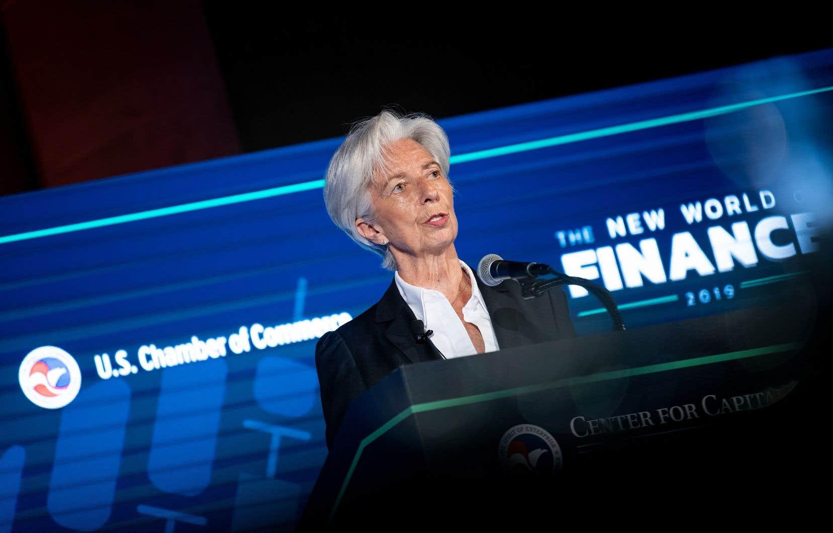 La directrice générale du FMI, Christine Lagarde, s'est montrée rassurante sur l'éventualité d'une récession à court terme.