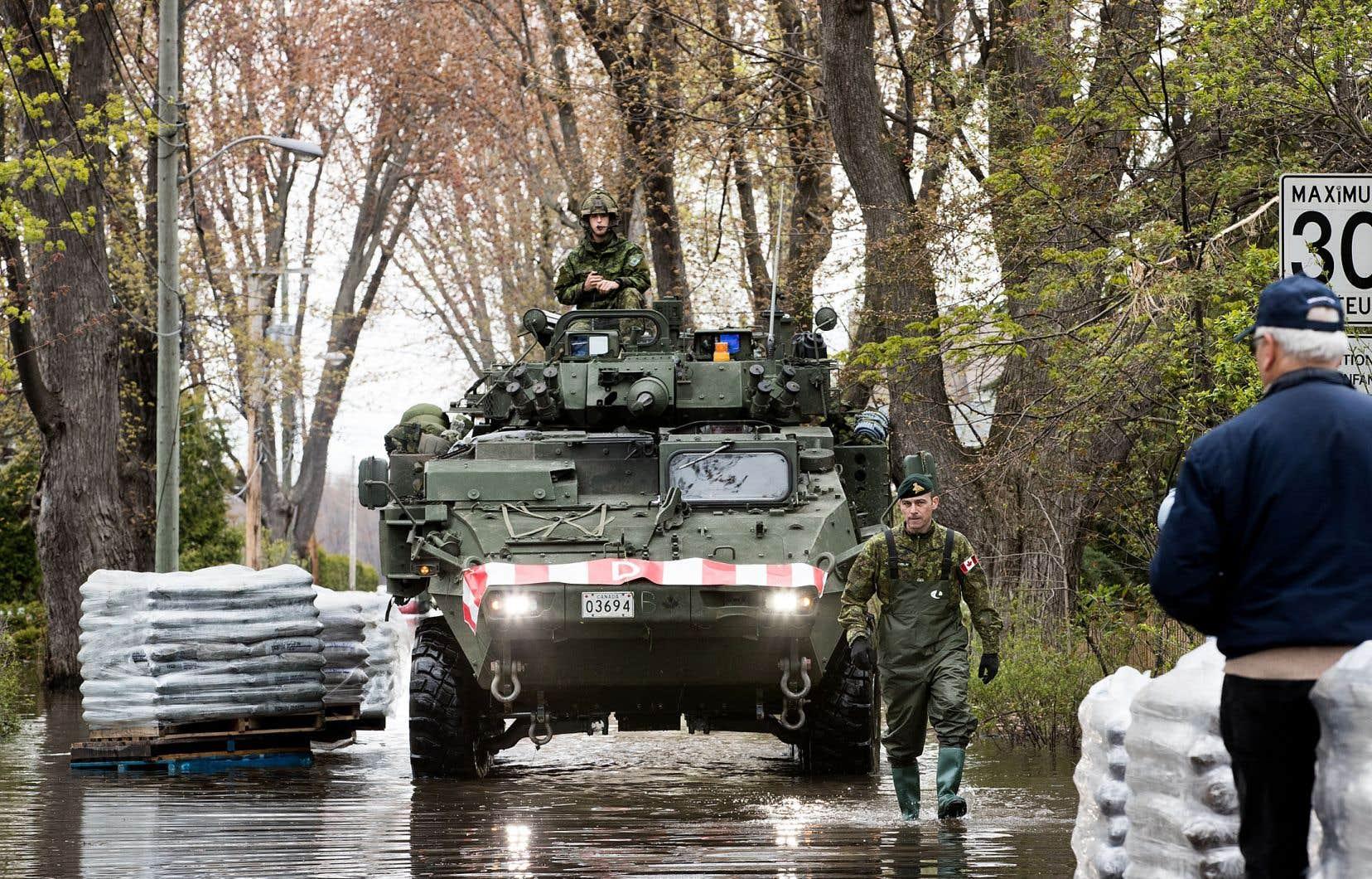 L'armée avait été appelée en renfort dans certaines villes, dont à Pierrefonds, lors des inondations de 2017.