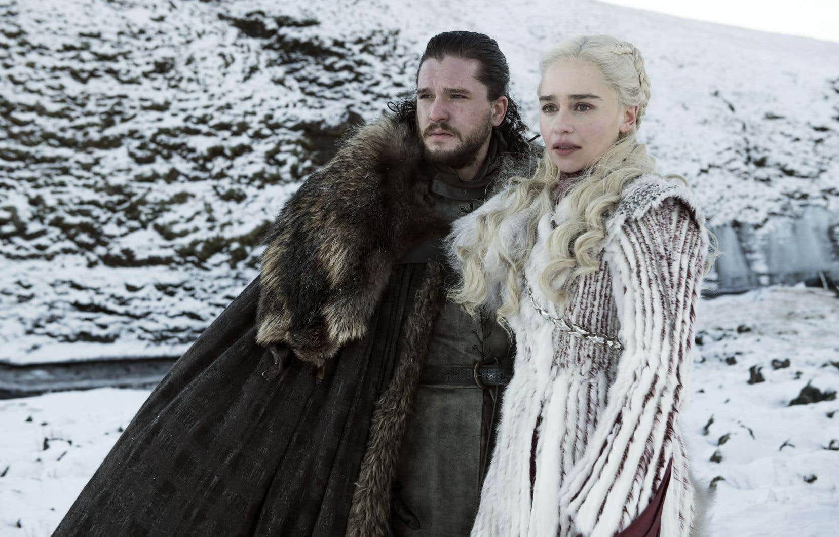Le duo emblématique John Snow et Daenerys Targaryen dans la huitième et dernière saison