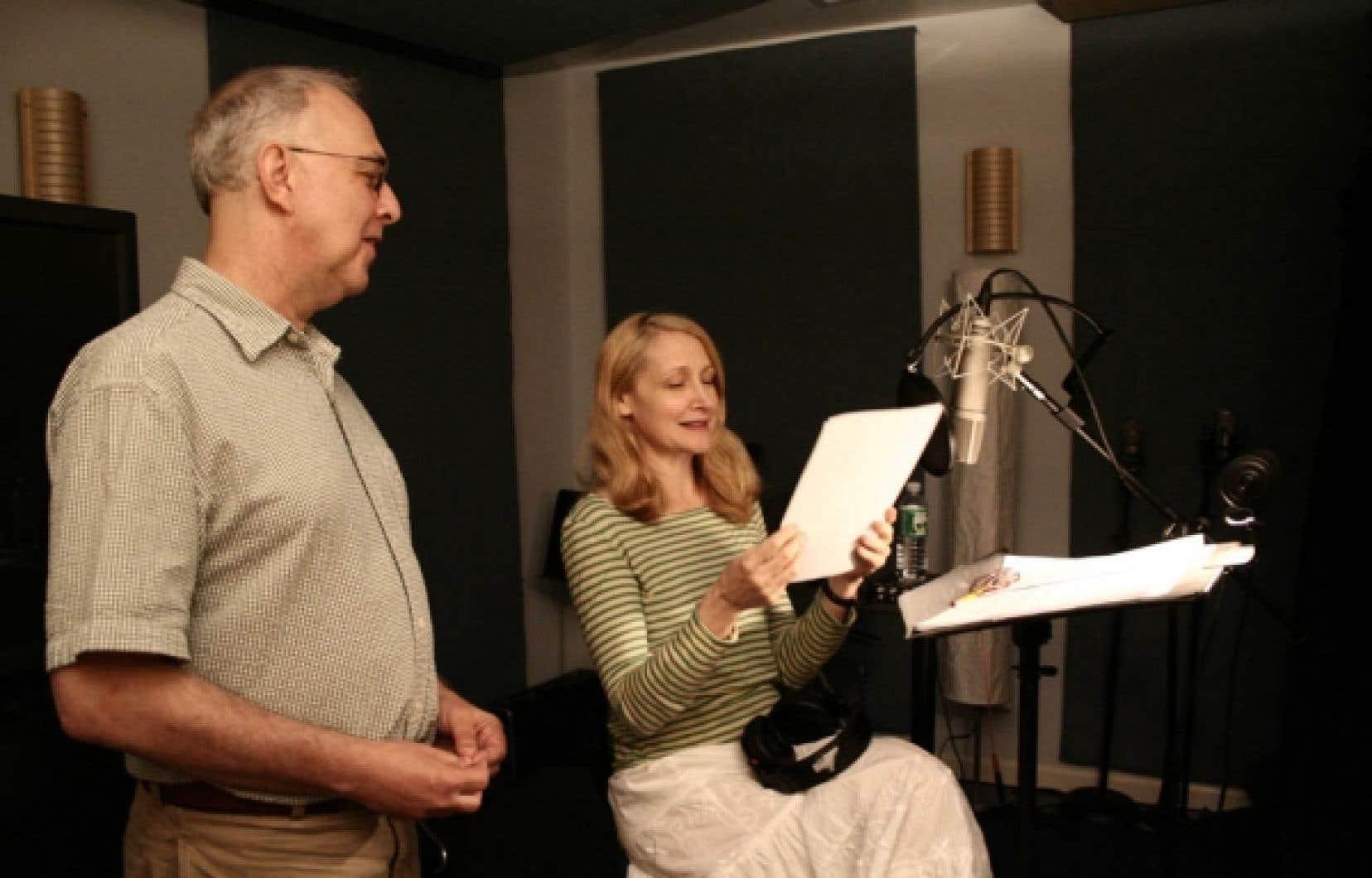Le réalisateur Gerald Peary et la narratrice, Patricia Clarkson<br />