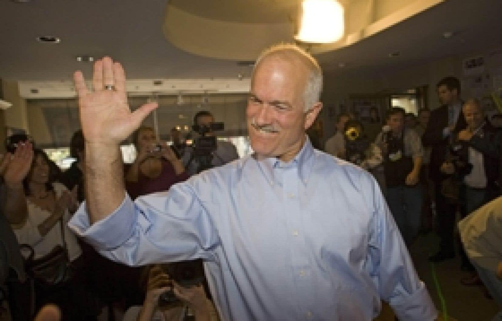Jack Layton, chef du Nouveau Parti démocratique