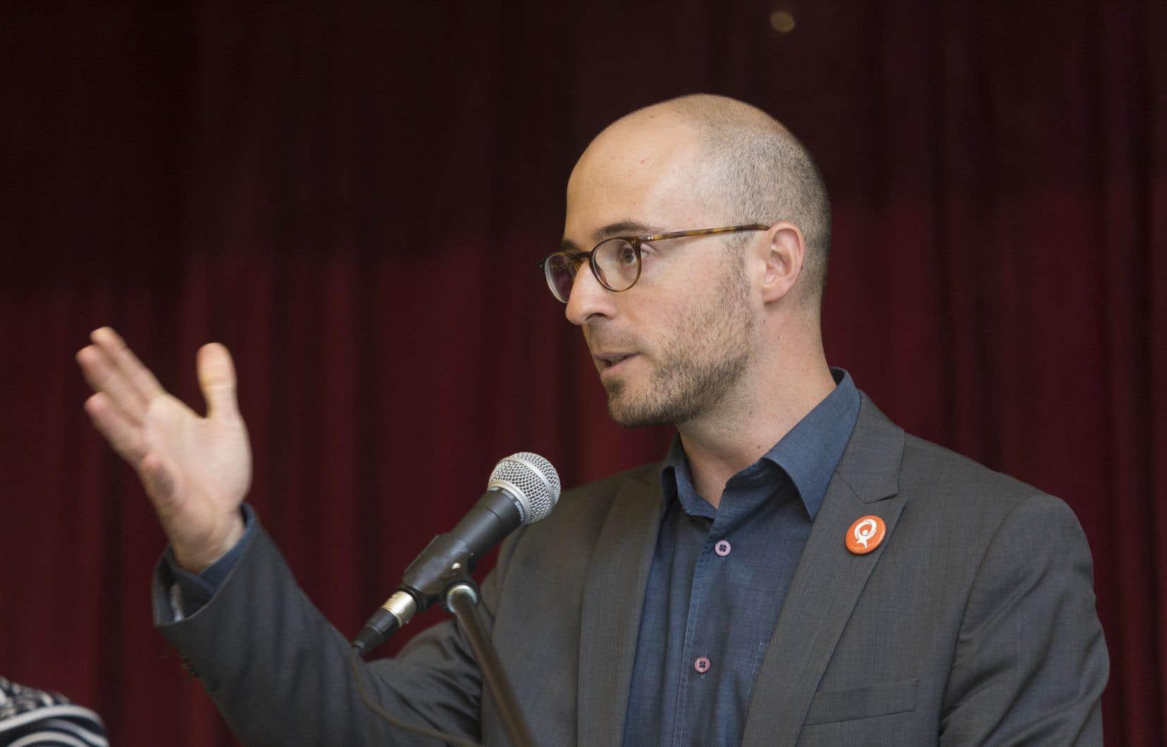 Le porte-parole de Québec solidaire en matière de laïcité, Sol Zanetti