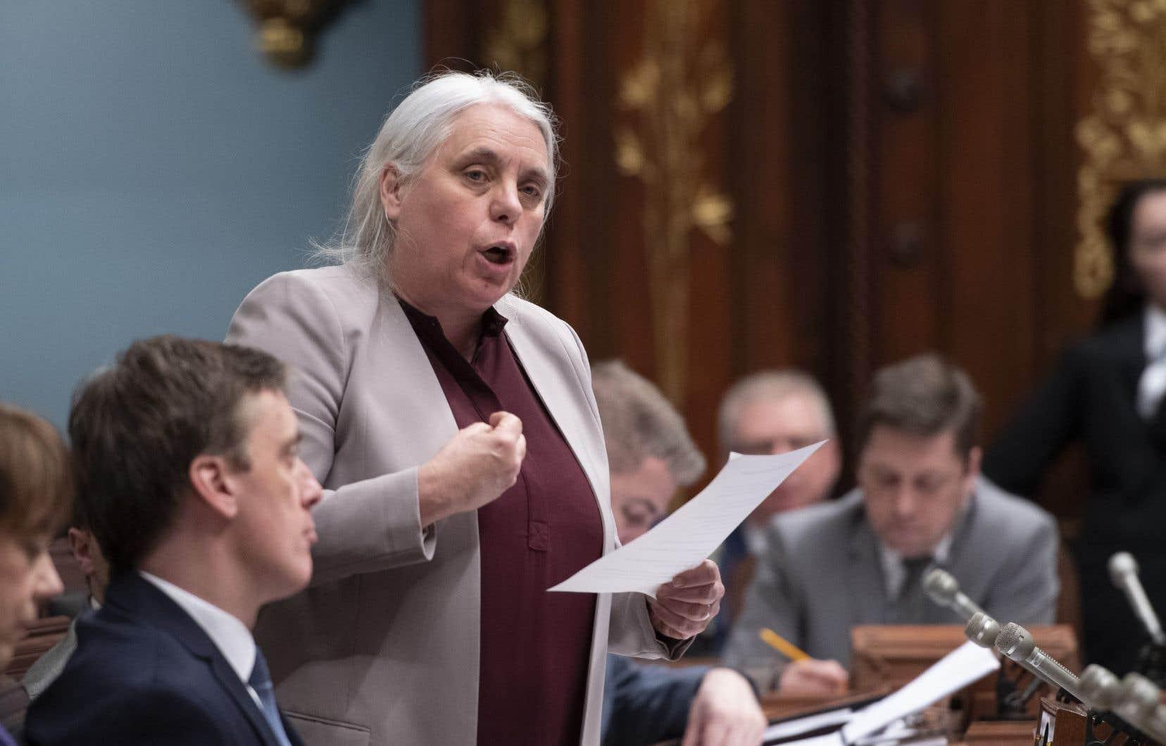 La co-porte-parole de Québec solidaire, Manon Massé