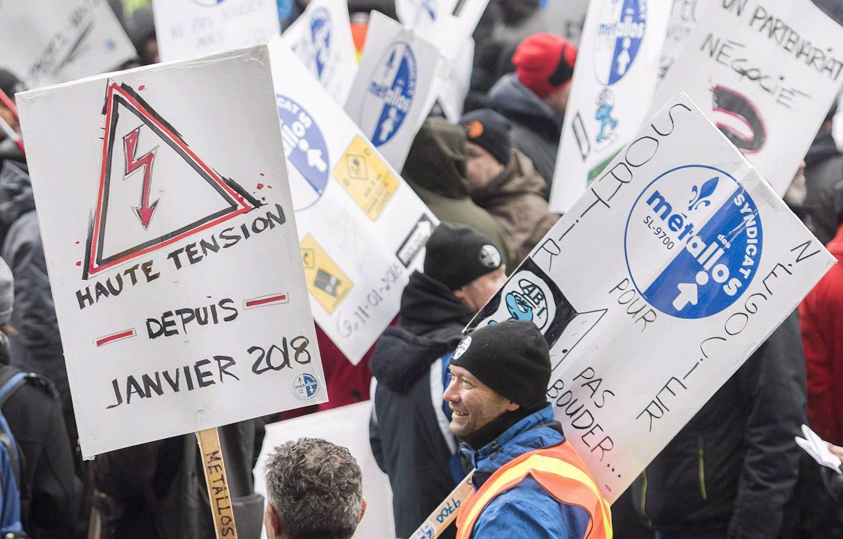 Plus de 1000 travailleurs sont touchés par ce conflit de travail qui a débuté le 11 janvier 2018.