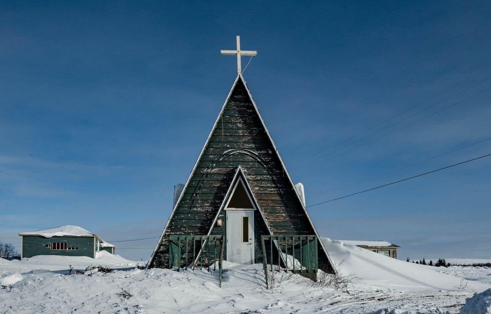 La chapelle Kateri-Tekakwitha, dans le secteur du lac John à Schefferville