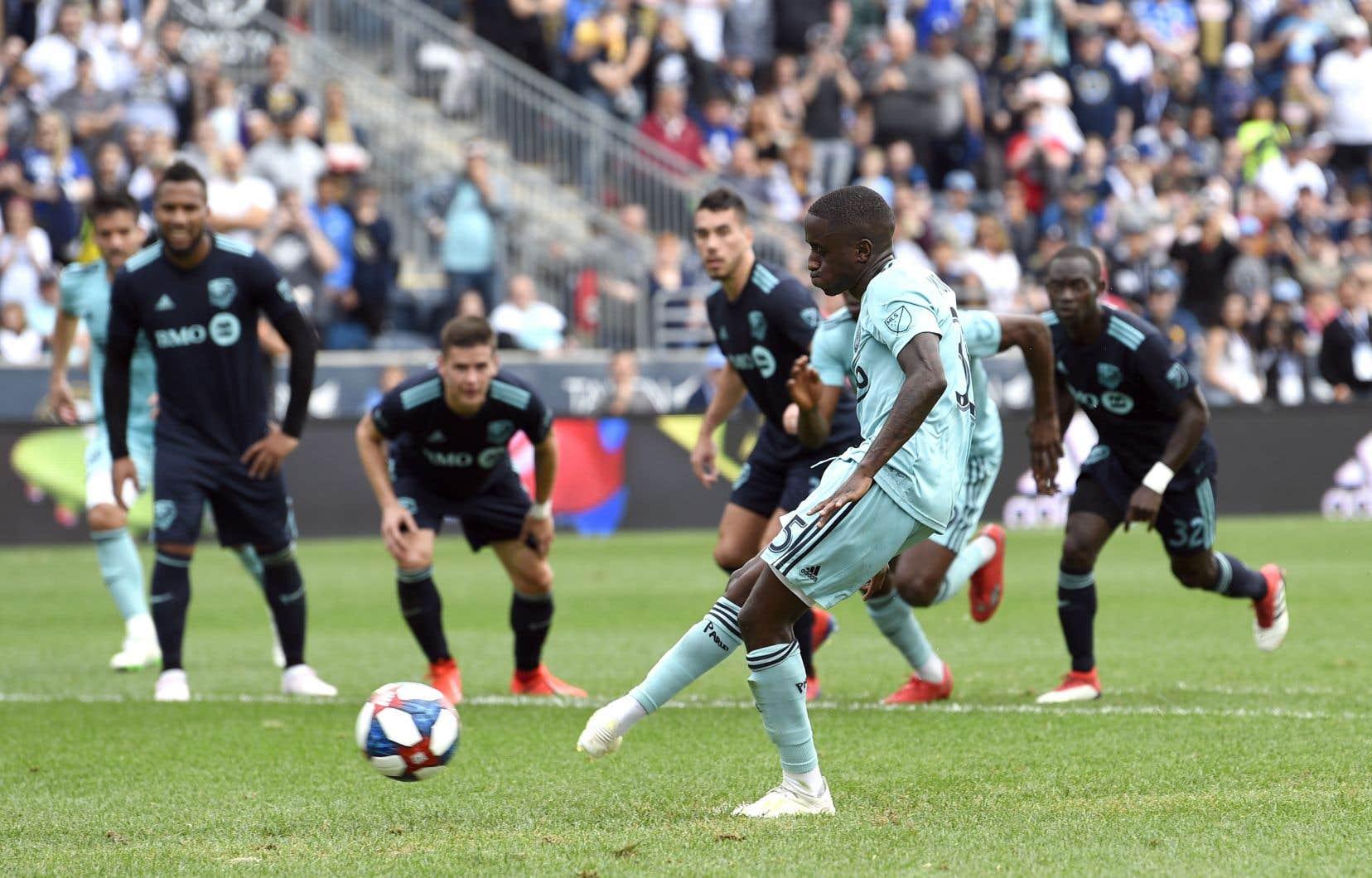 Jamiro Monteiro a doublé l'avance de l'Union sur un penalty pendant la 45e minute de jeu.