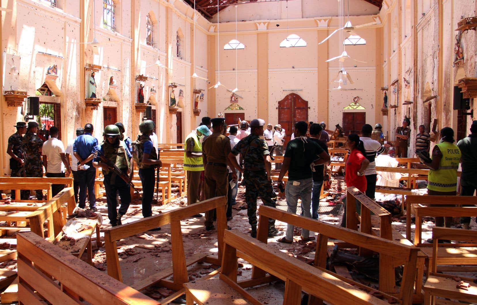 À Negombo, au nord de Colombo, l'église Saint-Sébastien a subi une attaque.