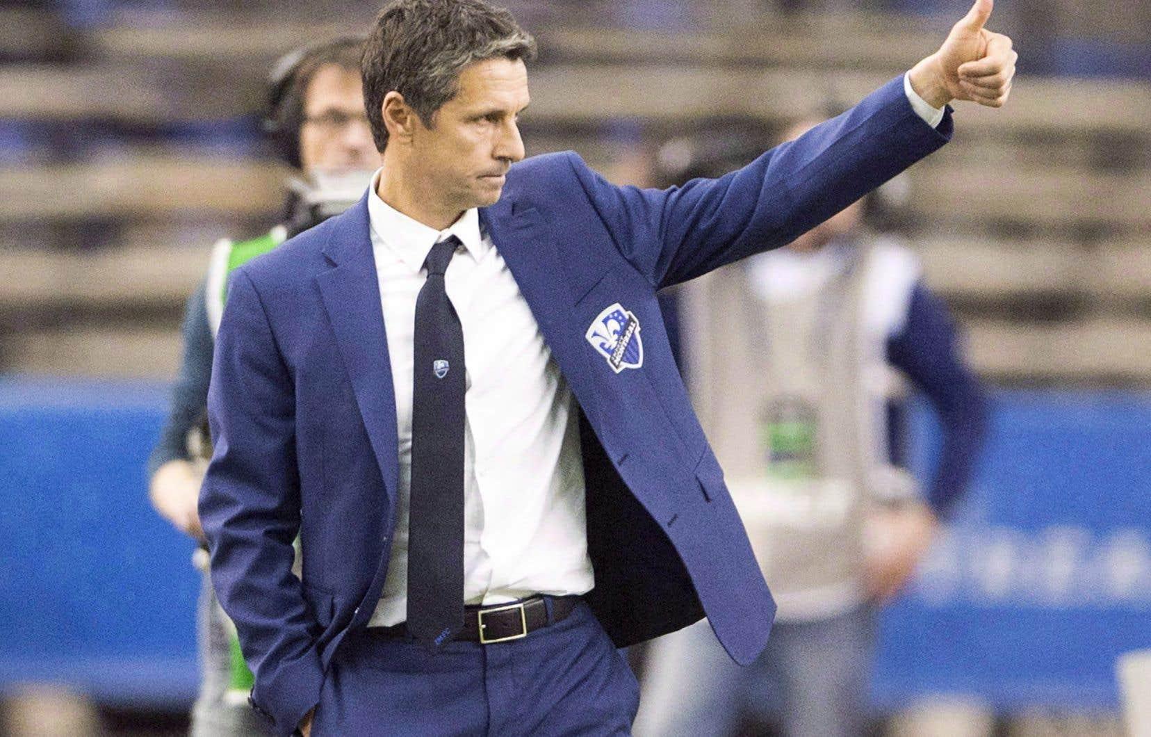 L'entraîneur-chef de l'Impact de Montréal, Rémi Garde.