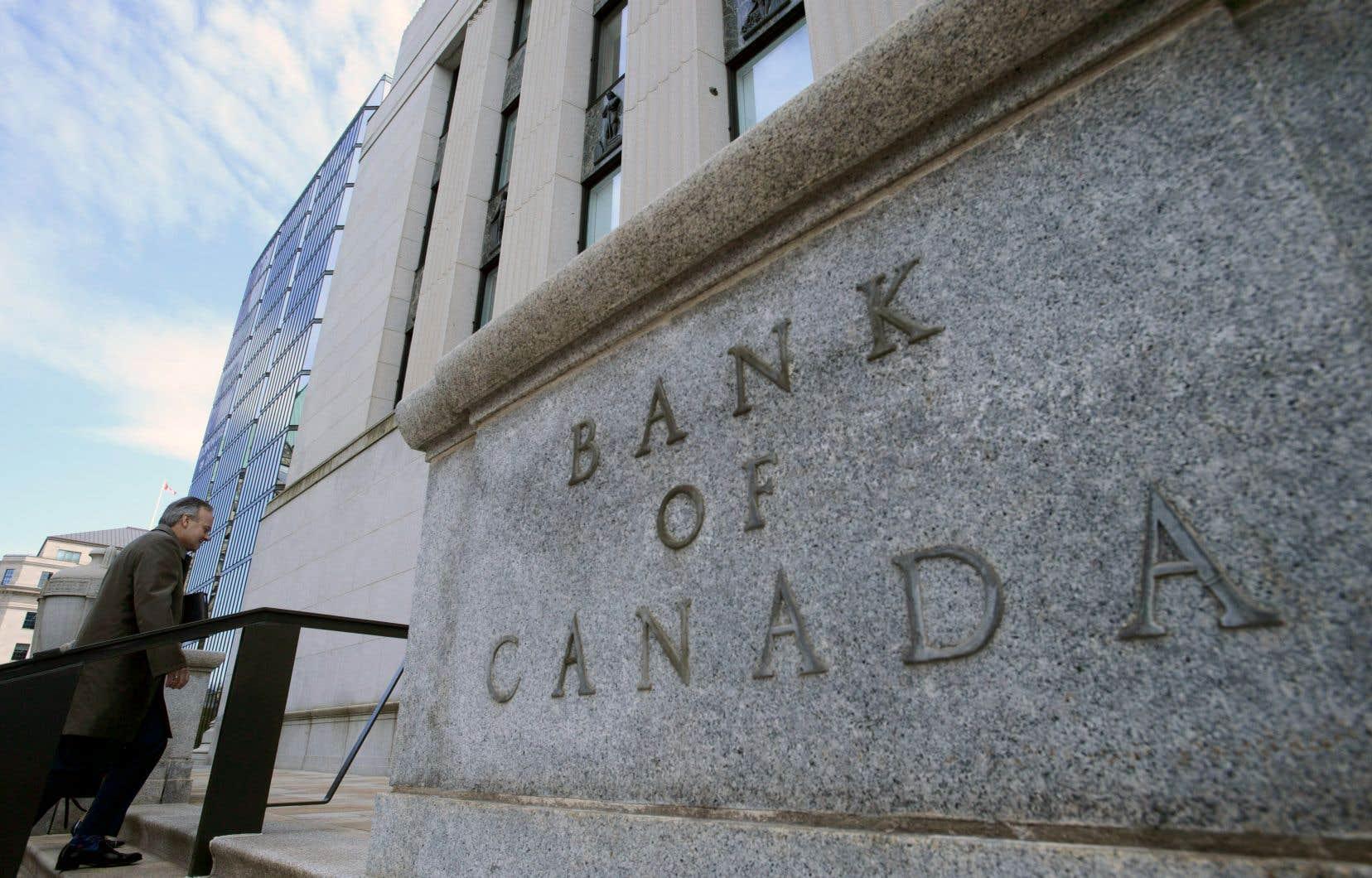 La Banque du Canada révise encore à la baisse ses prévisions