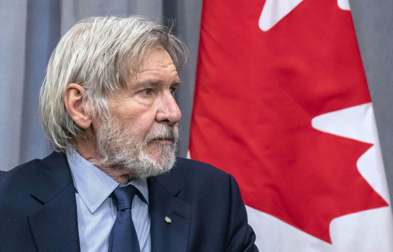 Militant écologiste, l'acteur américain Harrison Ford a participé jeudi à Montréal au «Sommet des champions de la nature».
