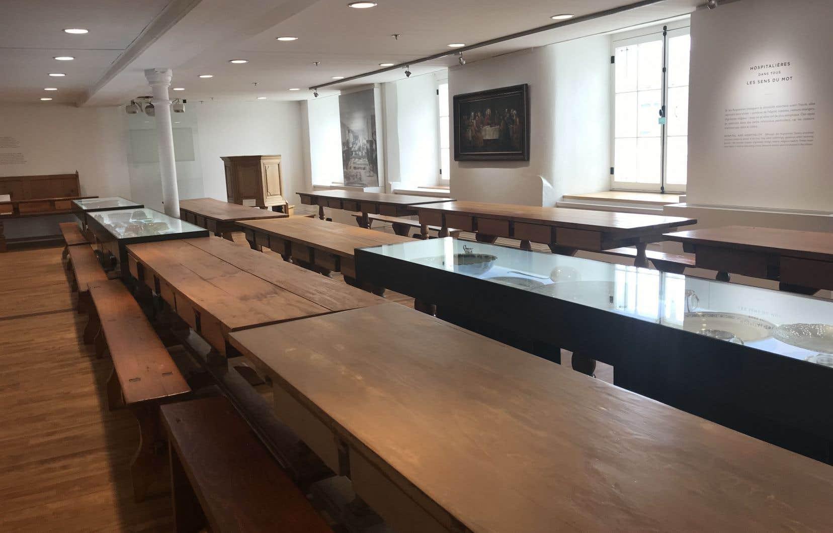 L'ancien réfectoire des augustines est une pièce du musée qui sert aussi de salle de réception pour des événements privés.