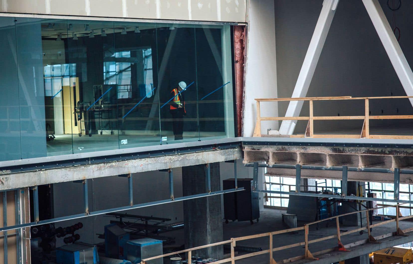 L'atrium sera ouvert au public, qui pourra zyeuter, en hauteur, le studio principal de RDI.