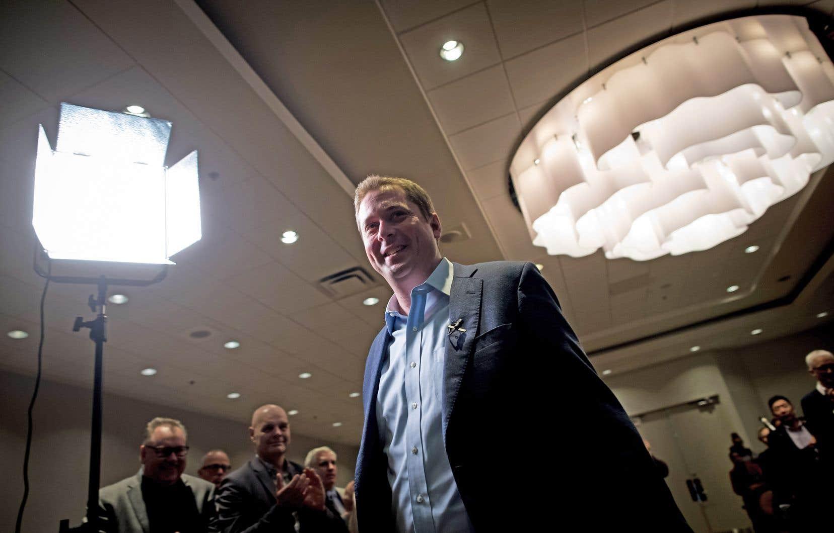 Andrew Scheer est arrivé à la tête du Parti conservateur du Canada il y a près de deux ans (en mai 2017), succédant à Rona Ambrose, qui en assurait l'intérim depuis la démission, en 2015, de l'ancien premier ministre Stephen Harper.