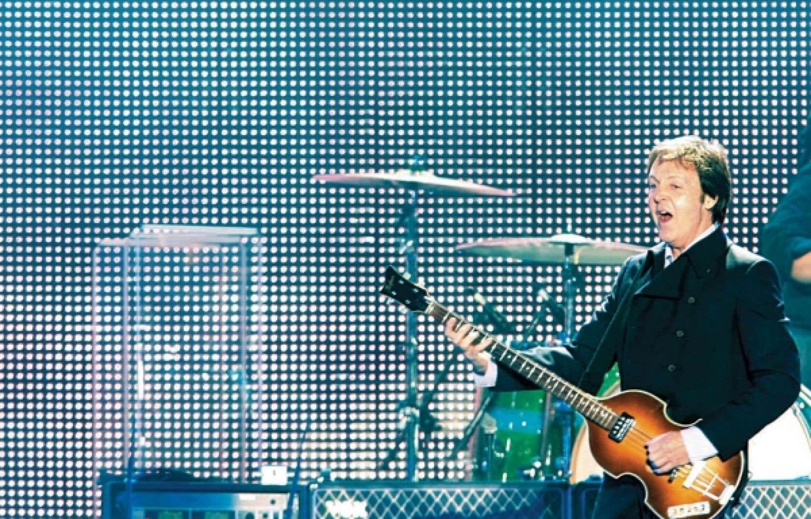 Paul McCartney en spectacle sur les plaines d&rsquo;Abraham, &agrave; Qu&eacute;bec, en juillet 2008<br />