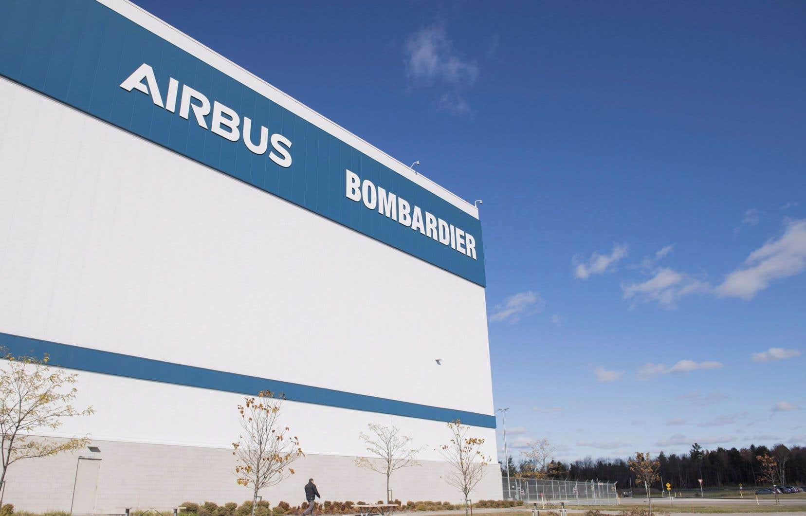 Une usine d'assemblage d'Airbus de Bombardier à Mirabel