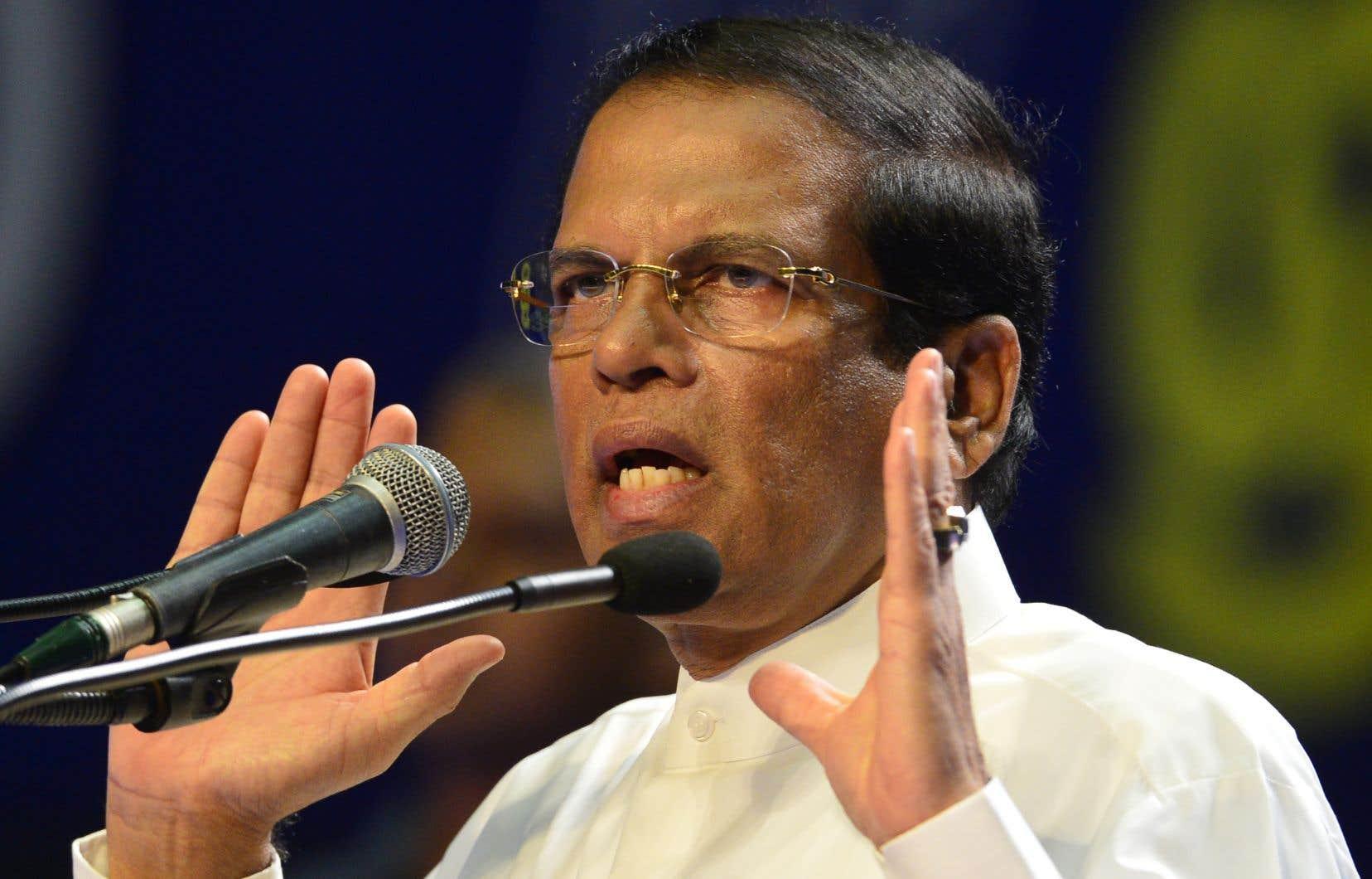 Le président sri-lankais, Maithripala Sirisena