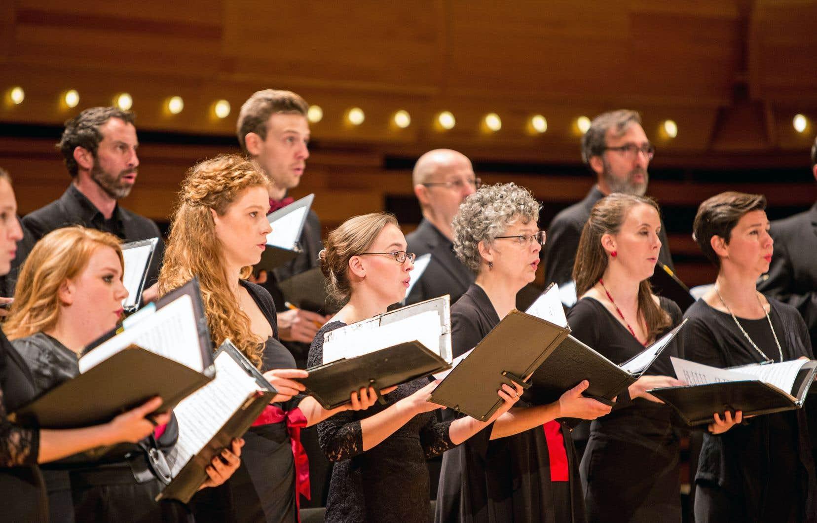 Les chanteurs du Studio de musique ancienne de Montréal ont présenté un superbe programme.