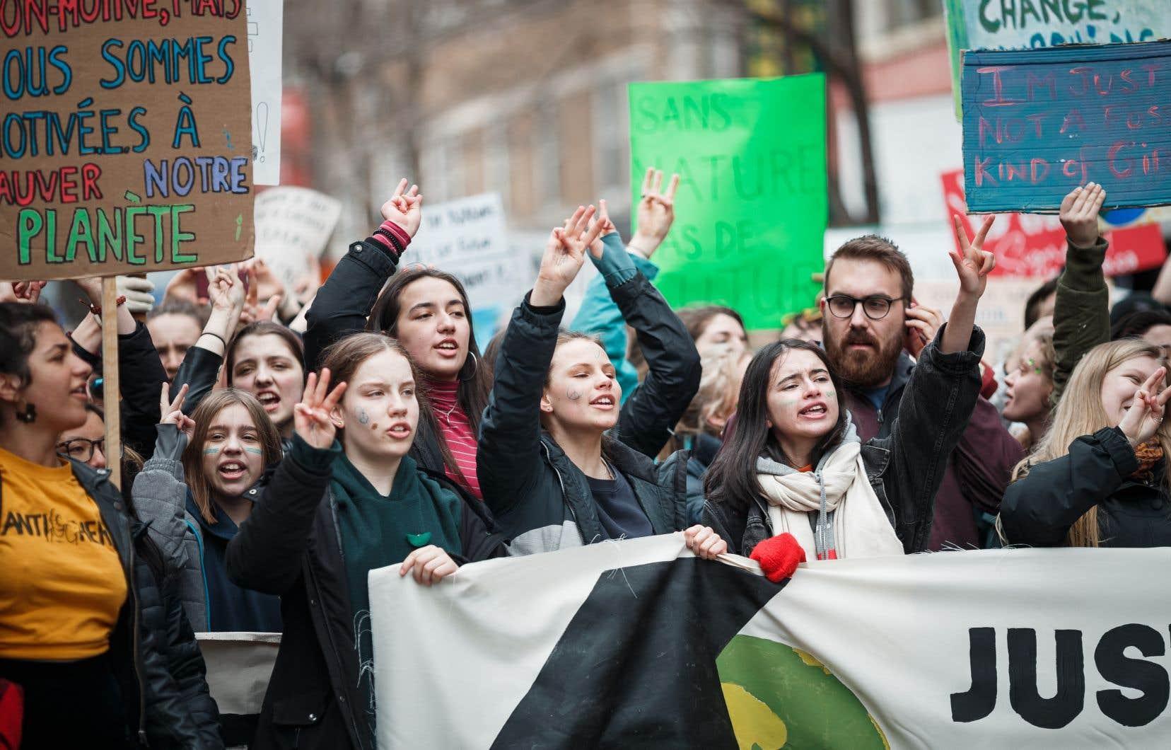 Marche des jeunes pour le climat , le 15 mars dernier.
