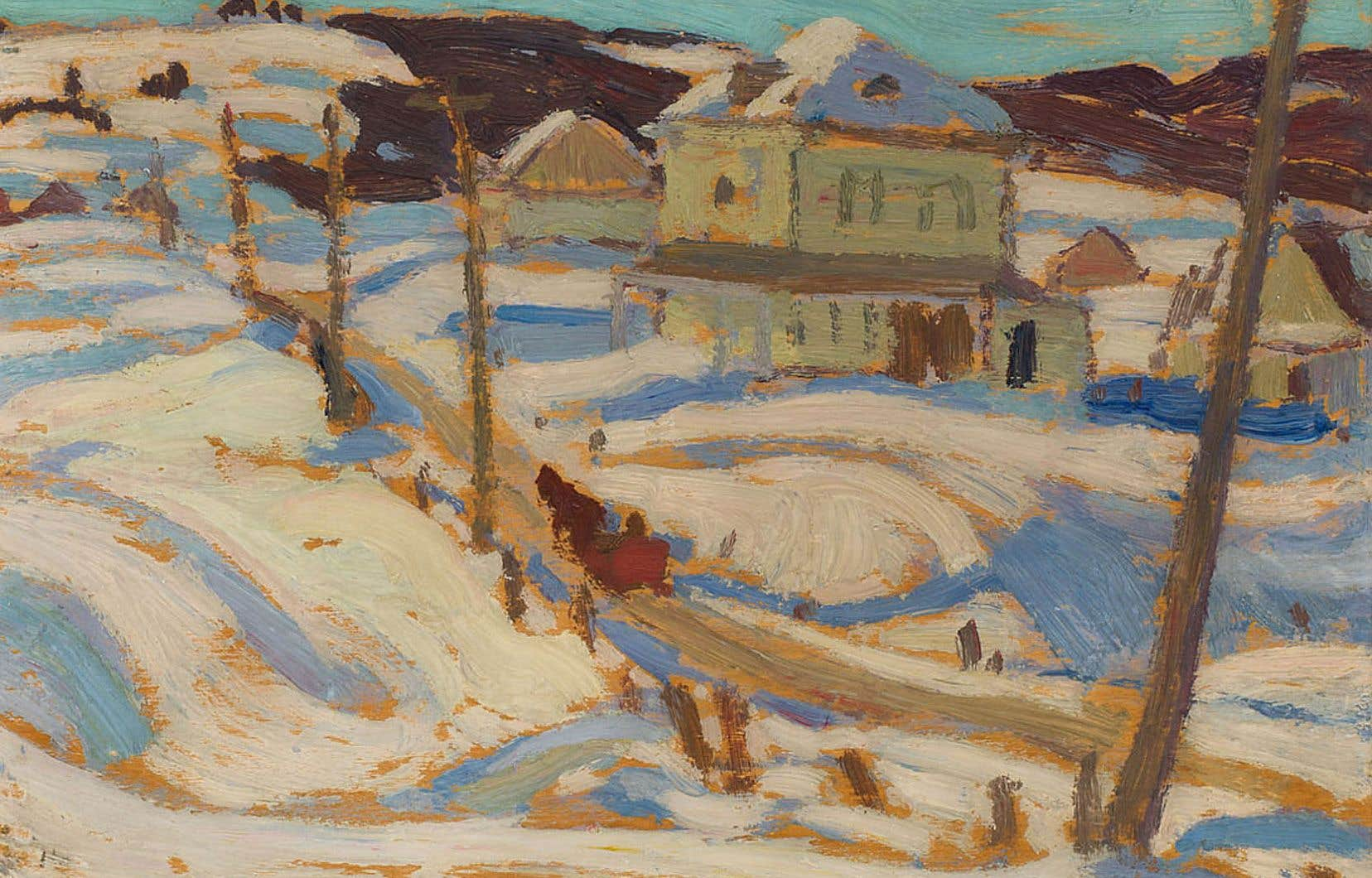 Le tableau intitulé «Quebec, Winter», du peintre montréalais A.Y. Jackson, sera mis aux enchères à la fin mai par le Musée des beaux-arts de l'Ontario.