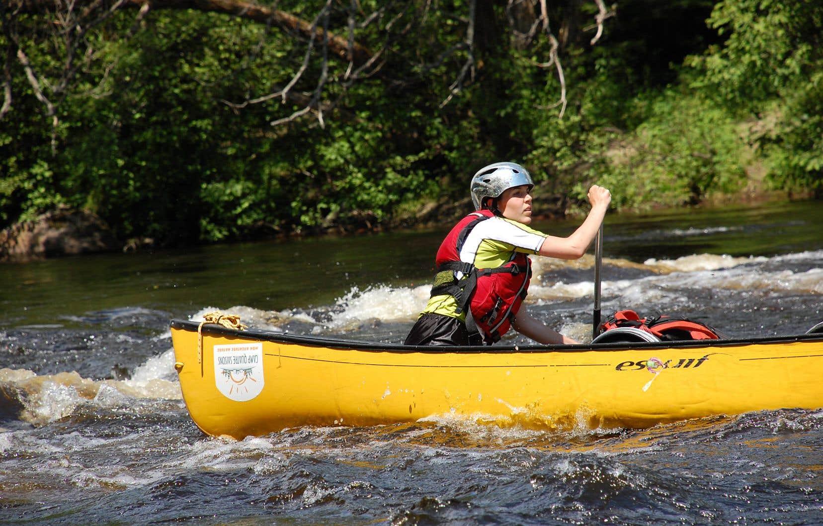 Expédition en canot-kayak au camp Quatre-Saisons, à Sainte-Thérèse