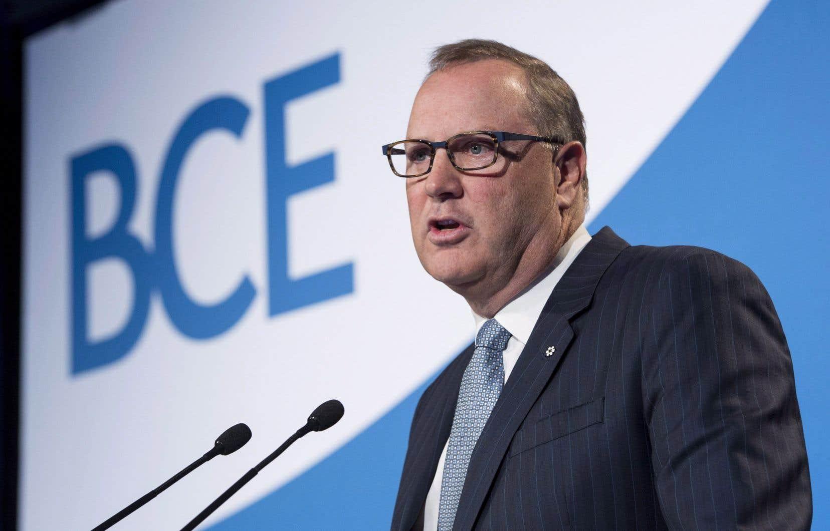 Le chef de la direction de BCE, George Cope, a indiqué jeudi queBell avait été soutenu par un contrat gouvernemental qui a commencé à se développer l'année dernière.