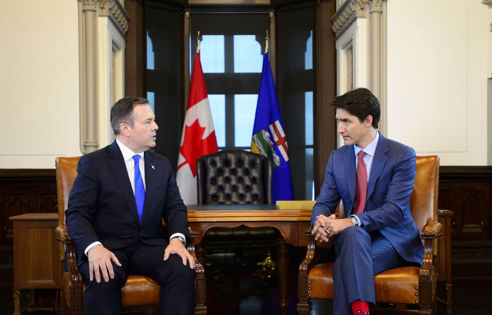 Le nouveau leader albertain était dans la capitale fédérale jeudi pour rencontrer le premier ministre.