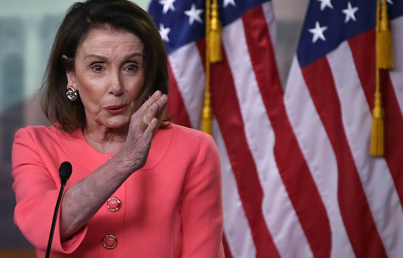 La présidente de la Chambre des représentants, Nancy Pelosi