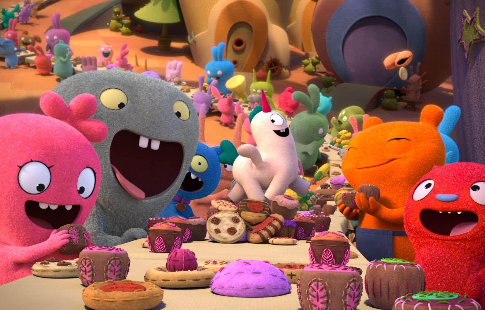 Le film d'animation «UglyDolls», avec les voix de Marie-Mai, Koriass, Ludivine Reding et Xavier Dolan en français, prend l'affiche vendredi au Québec.