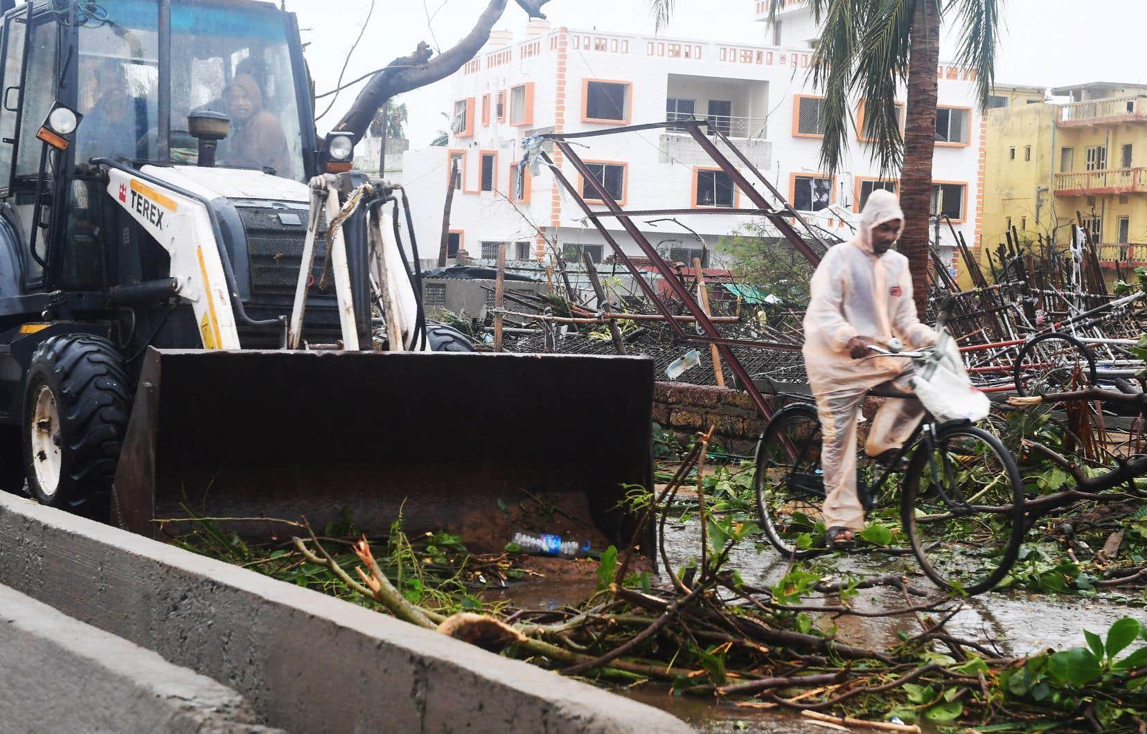 À Puri, ville indienne d'environ 200 000 habitants, 160 personnes ont été blessées lors du passage du cyclone «Fani».