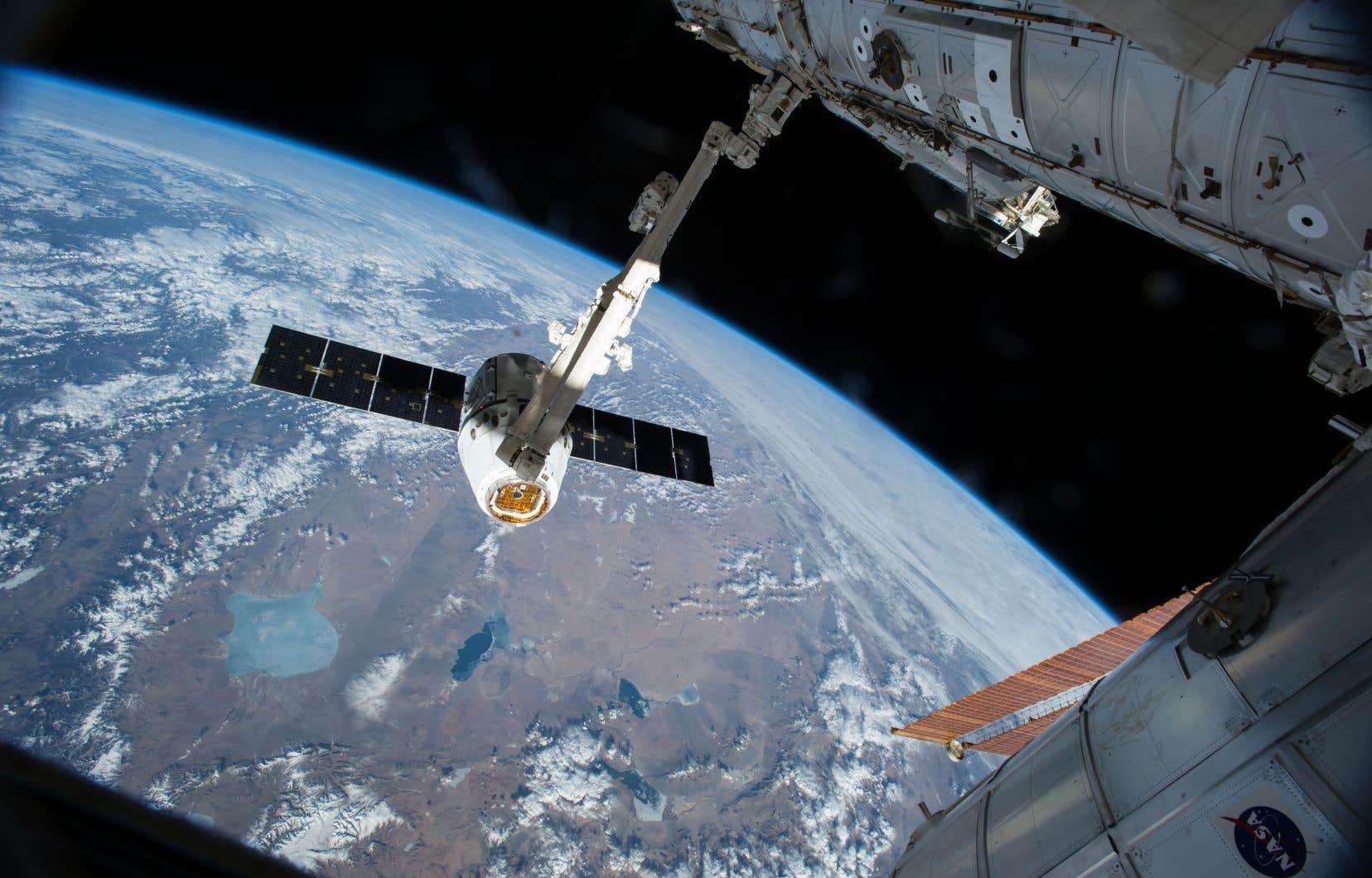 L'astronaute canadien David Saint-Jacques ser servira duCanadarm 2 pour «attraper»une capsule Dragon chargée d'approvisionnement.