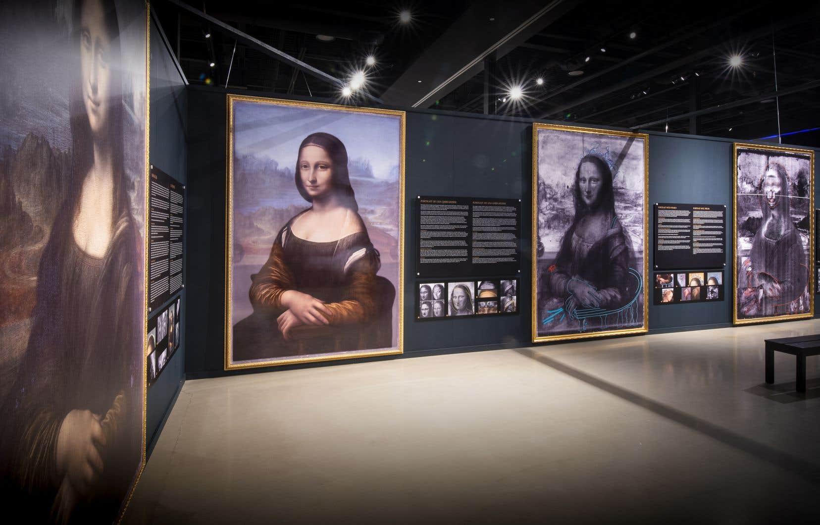 L'exposition comprend une analyse de «La Joconde», l'œuvre la plus célèbre de Leonardo da Vinci.