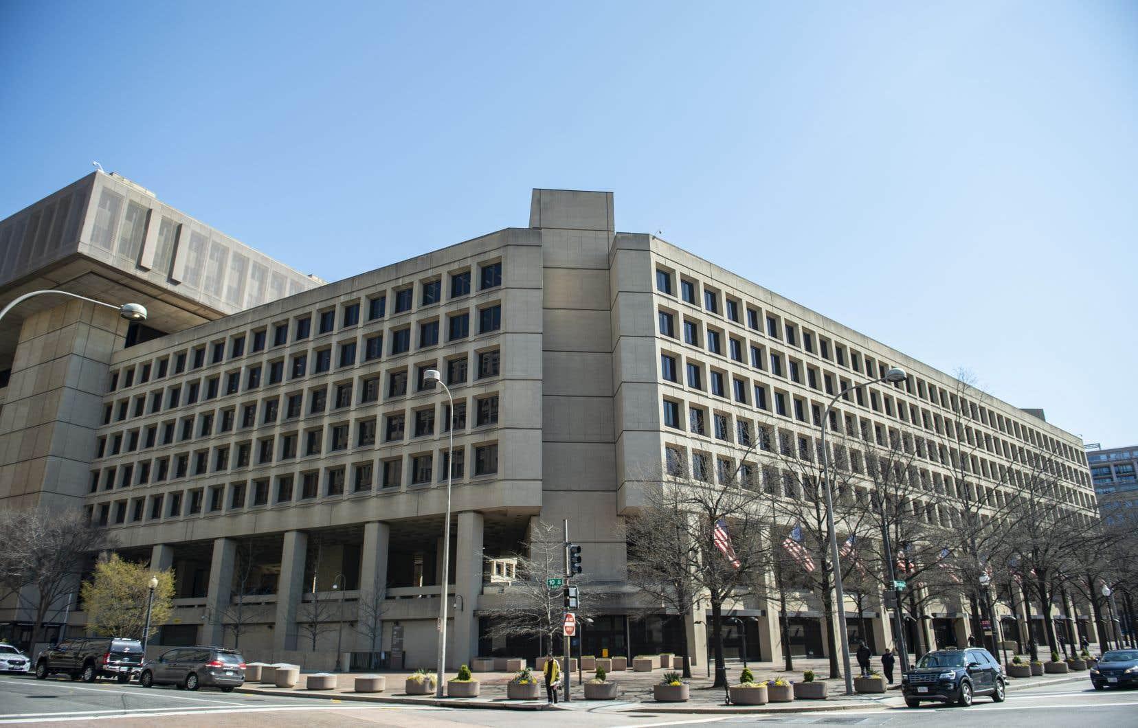 L'édifice J. Edgar Hoover où réside le FBI, à Washington, DC.