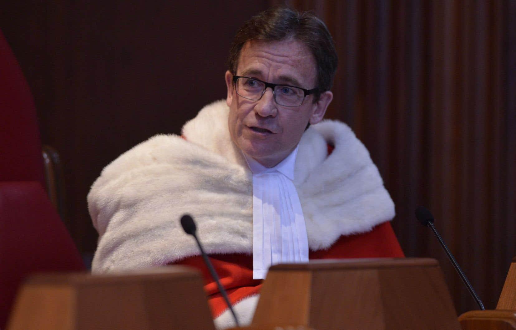 Le juge de la Cour suprême, Clément Gascon.