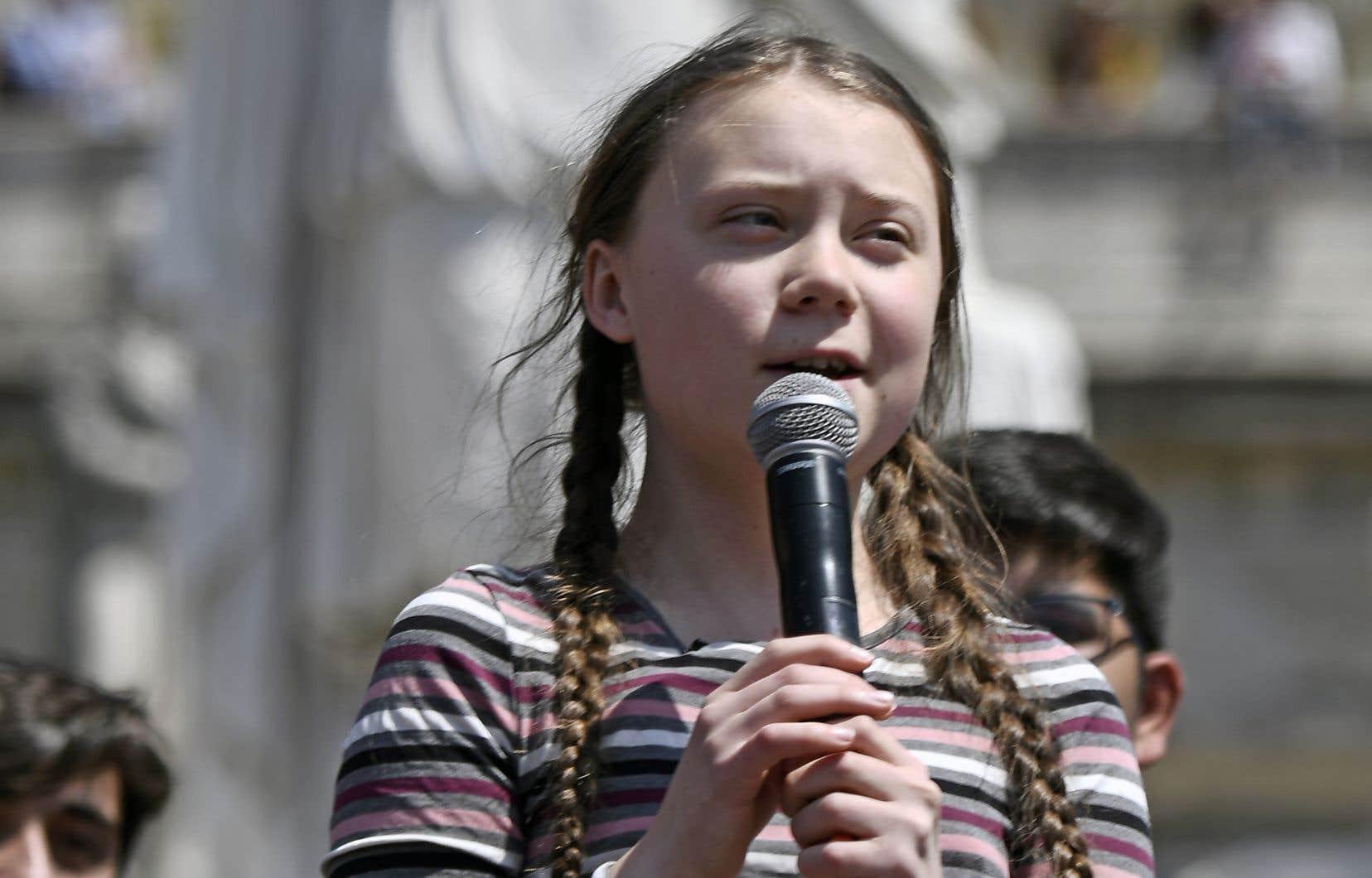 La jeune militante Greta Thunberg