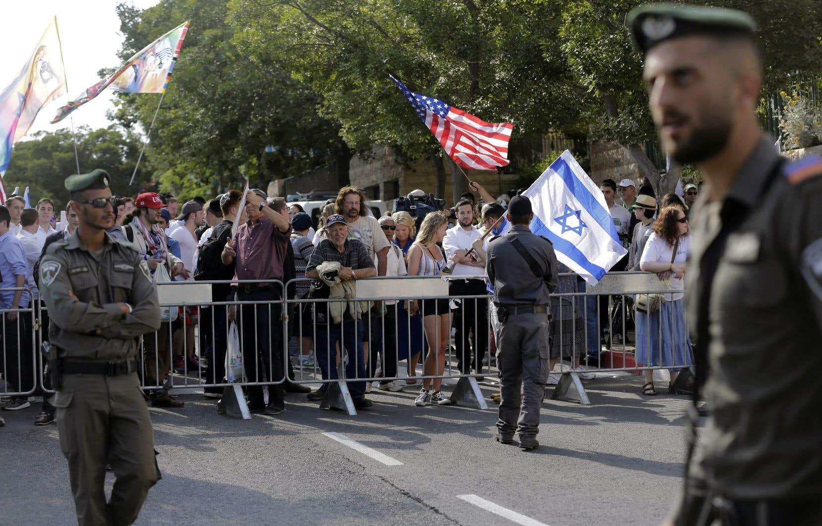 Le transfert en grande pompe de l'ambassade américaine à Jérusalem avait attiré une foule dense, le 14 mai 2018.