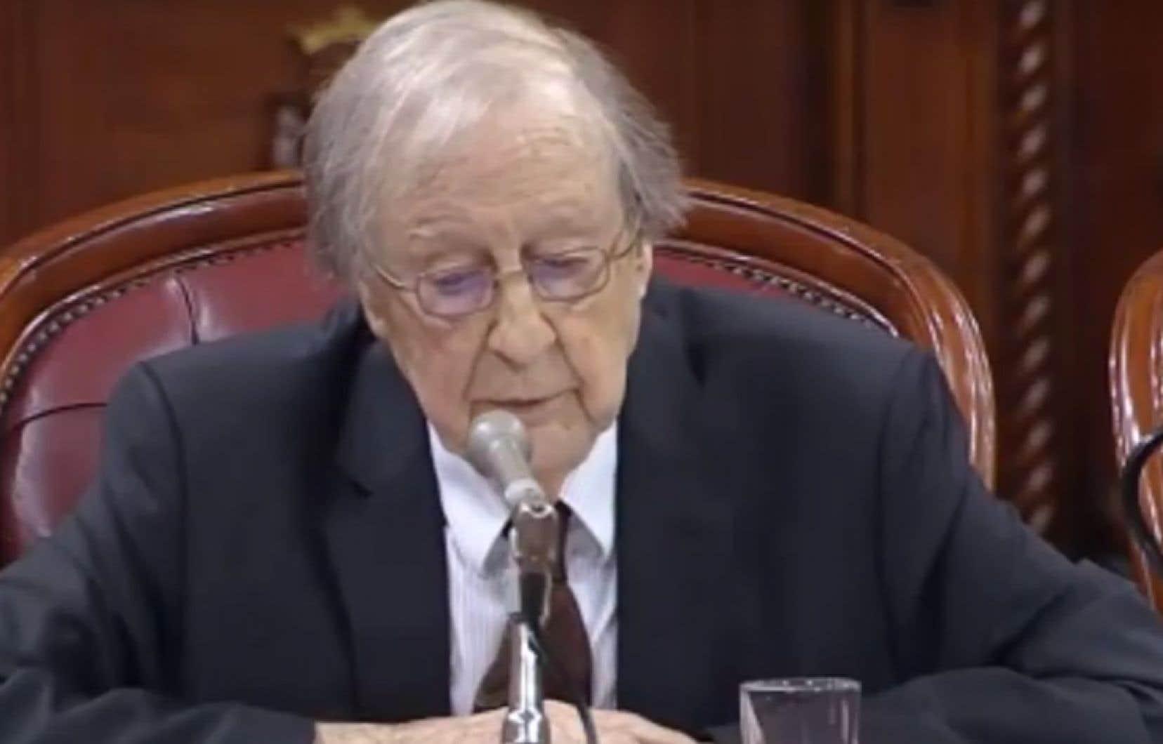 Guy Rocher a plaidé en faveur de l'interdiction du port de signes religieux prévu dans le projet de loi 21.