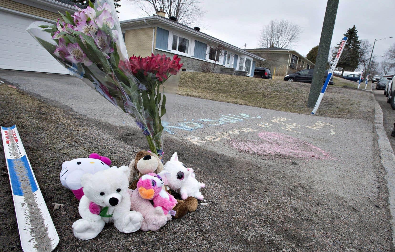 La petite Rosalie Gagnon, deux ans, avait été retrouvée morte dans une poubelle de Charlesbourg le 18 avril 2018.