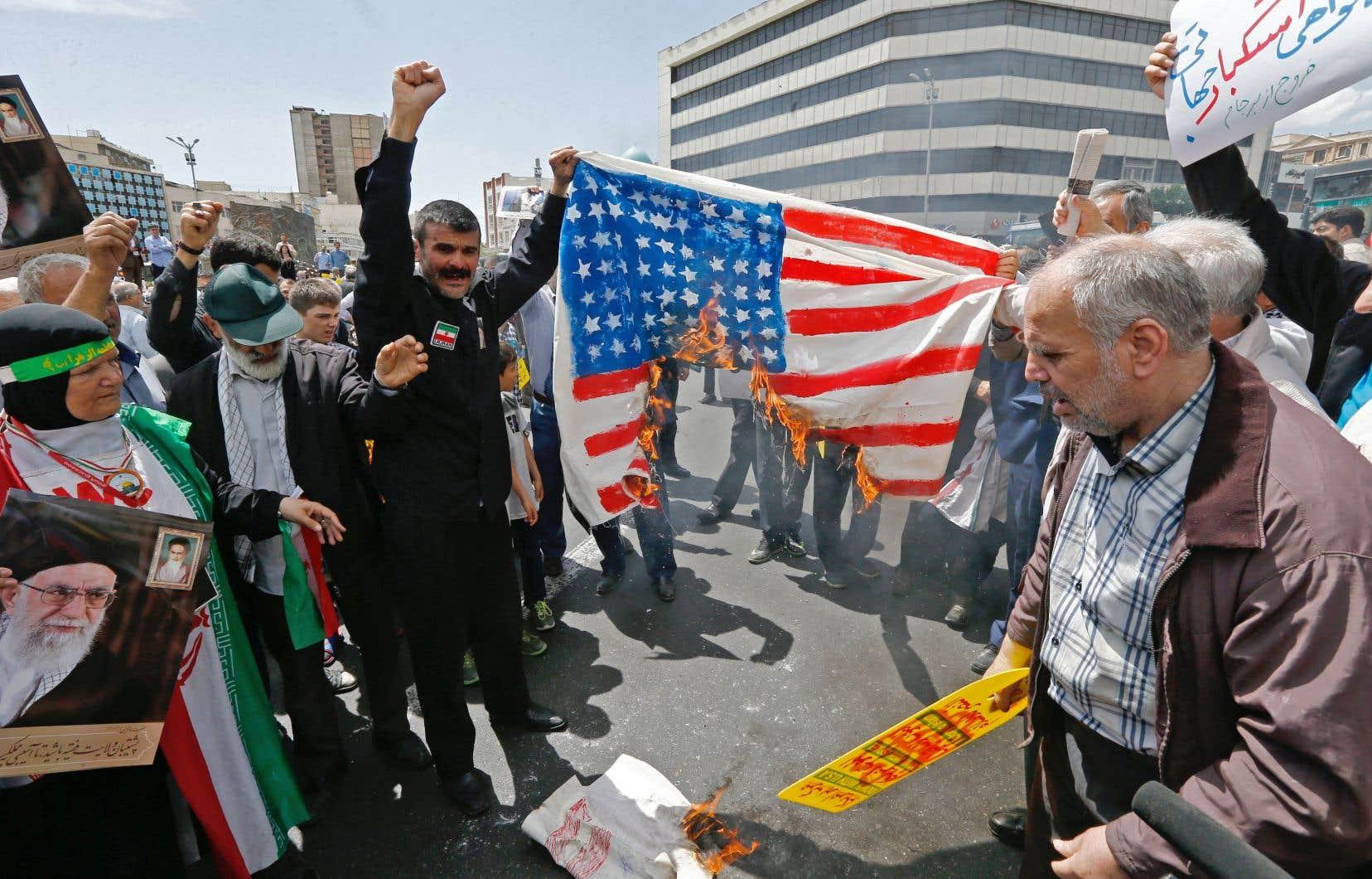 L'escalade des tensions entre les États-Unis et l'Iran a déclenché mercredi des mesures de précaution spectaculaires.
