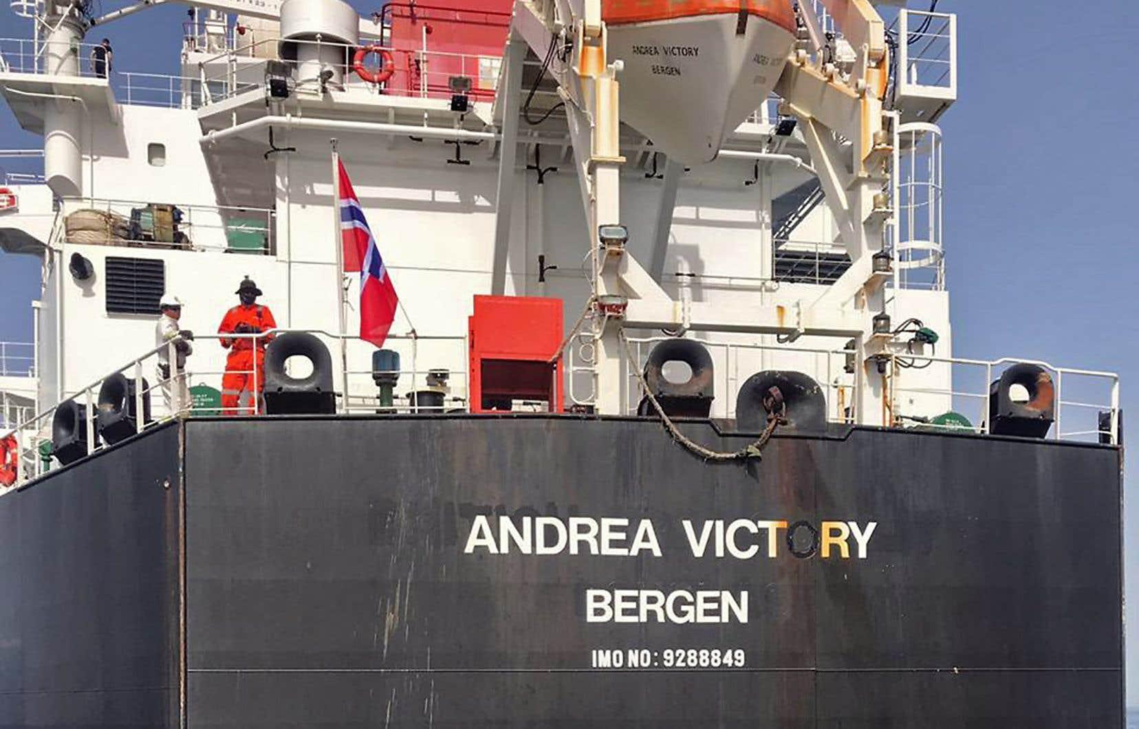 Lundi, quatre navires ont été attaqués au large des Émirats arabes unis, dont l'«Andrea Victory» (sur la photo).
