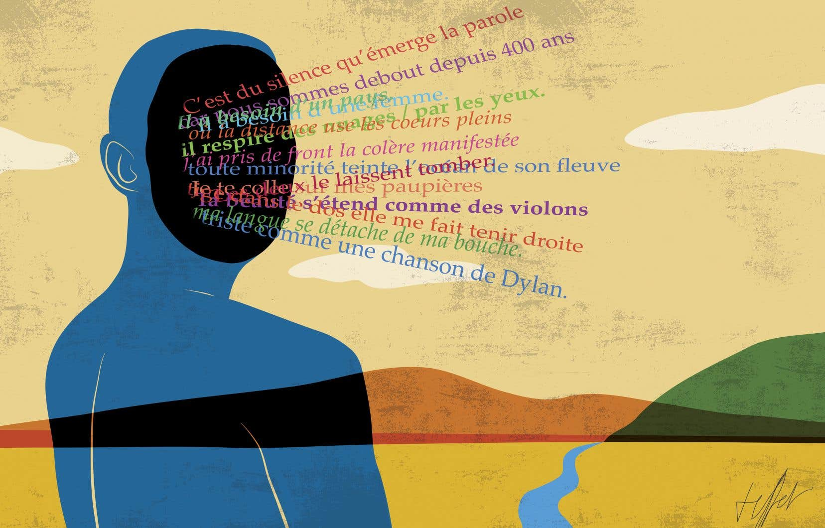 «Poèmes de la résistance» fait entendre la voix indignée, railleuse ou pleine d'espérance de 37 poètes franco-ontariens, de naissance, de culture et/ou de cœur.