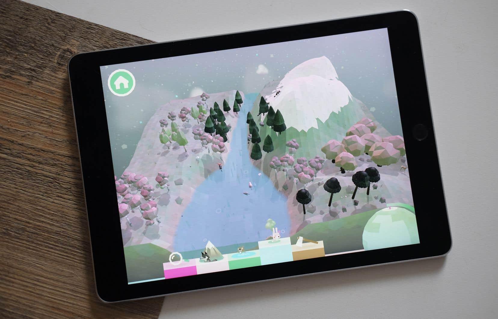 Tenant des principes du jeu libre, «Toca Nature» offre un grand territoire carré que l'on peut modeler comme un carré de sable.