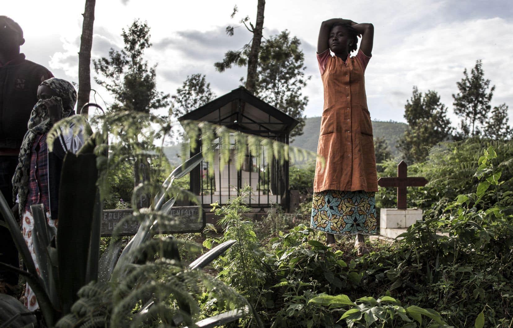Jeudi, une famille assistait à un enterrement à Butembo.