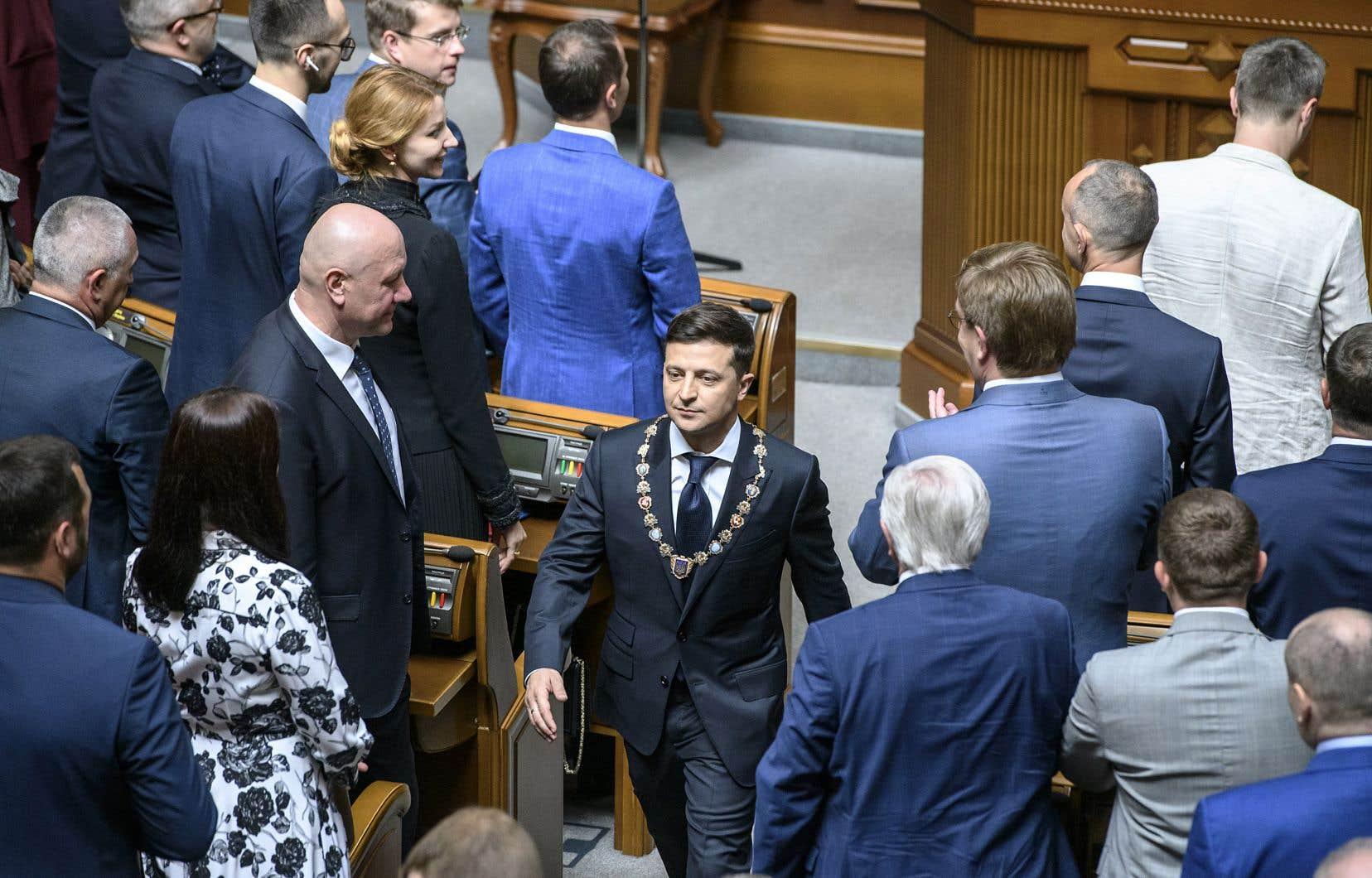 Volodymyr Zelensky s'engage à maintenir le cap pro-occidental qu'a déjà pris l'ex-république soviétique.