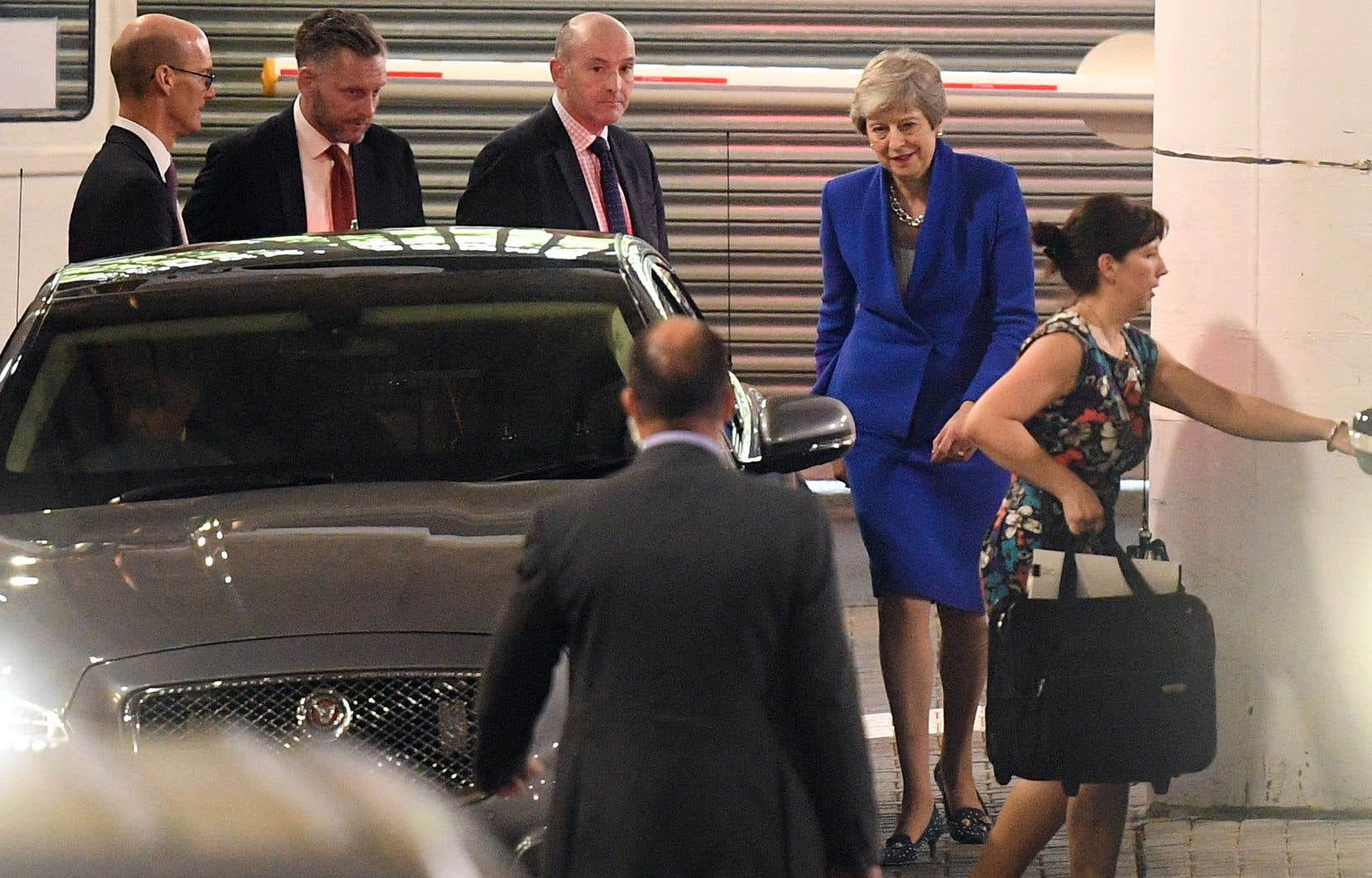Theresa May photographiée après avoir livré son discours
