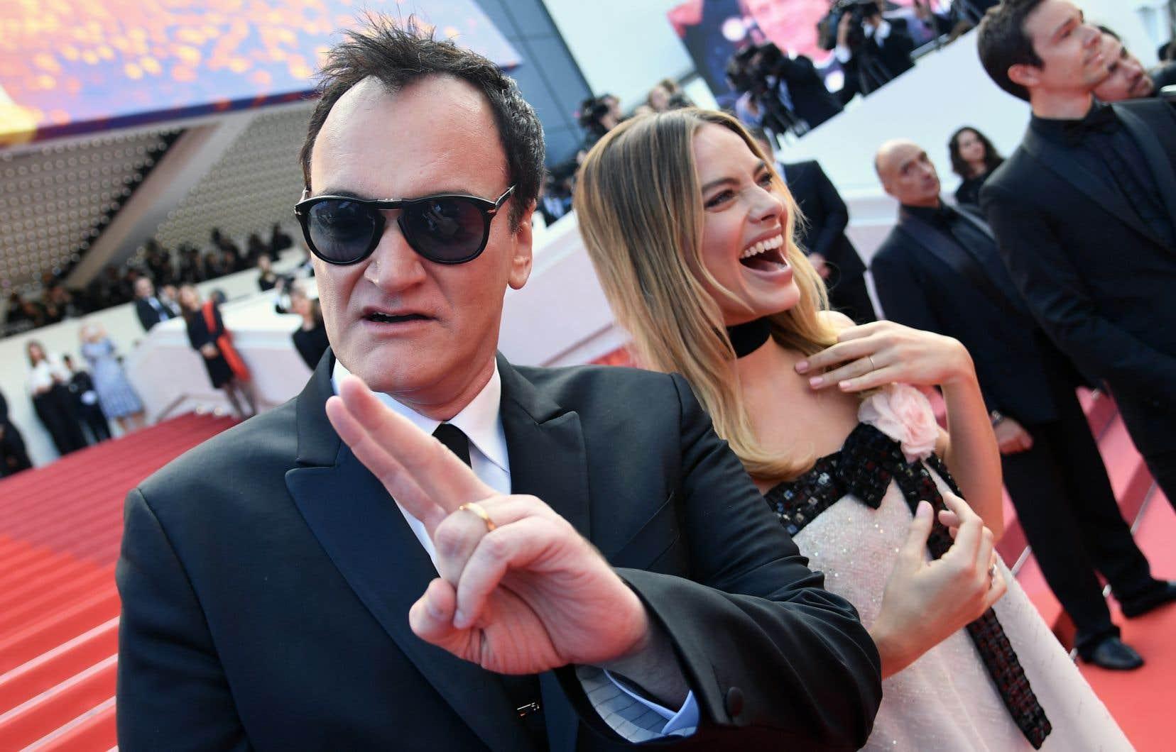 La séance de presse de l'Américain Quentin Tarantino, mardi, a été l'une des plus courues depuis l'ouverture du festival.