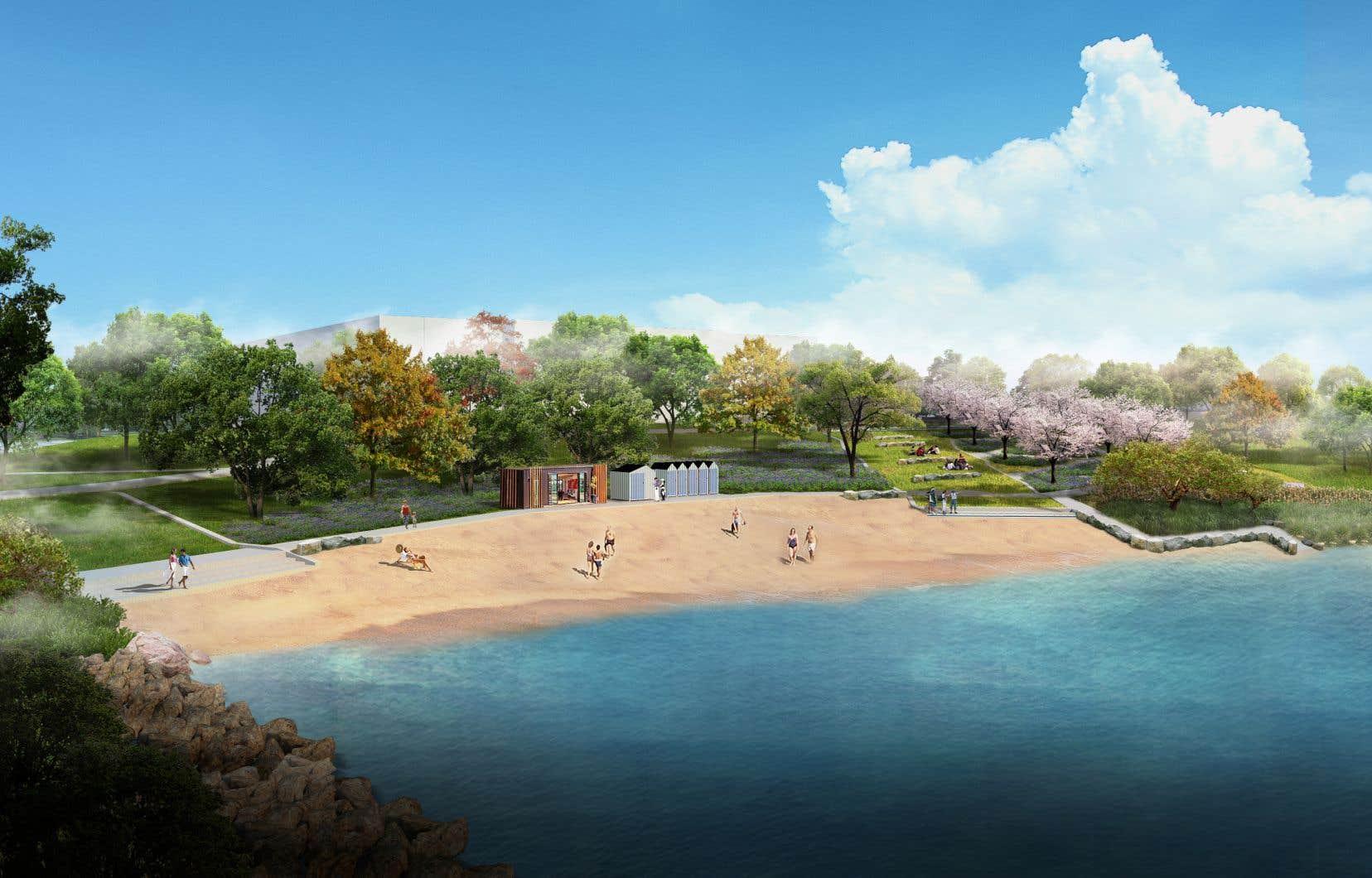 Une nouvelle plage voit le jour cet été à côté de l'Auditorium de Verdun