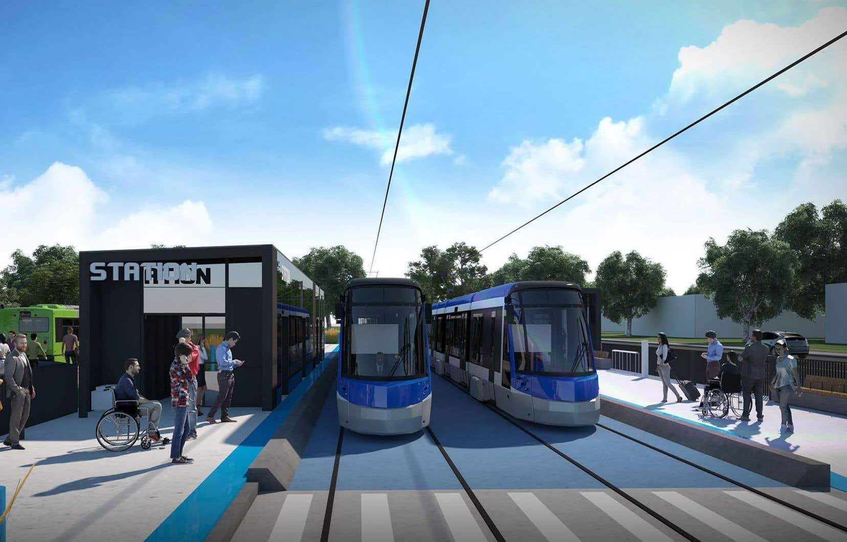 Dix-huit terrains et portions de terrain s'exposent à des expropriations sur le parcours de 23 kilomètres prévu pour le tramway.