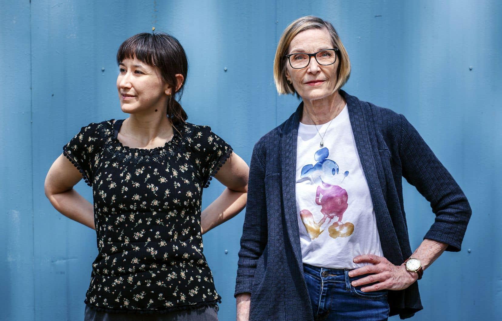 Christine Dallaire-Dupont, participante à l'Expo «Japon» du festival, et Johanne Desrochers, directrice générale du Festival BD de Montréal