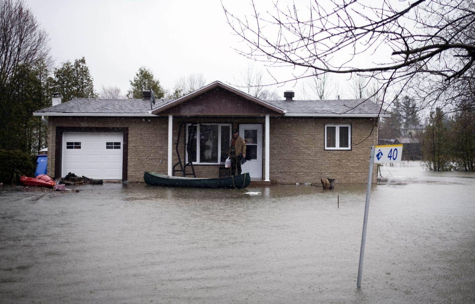 Inondations à Rigaud, le vendredi 26 avril 2019